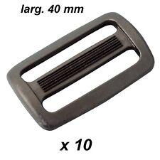 10 Passants doubles pour sangle larg. utile 40 mm NOIRS