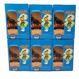 (72 Pods) Kauai Coffee® Single-Serve Capsules, Island Sunrise, Mild Roast