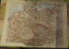 Old School Card Czechoslovakia Poland Vintage Atlas 1957 in German