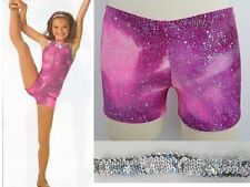 Raspberry Ice Dance Costume Shorts & Sequin Headband ONLY Child Small