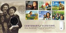 GB QEII PNC COIN COVER 2007 CENTENARY OF SCOUTING 50P B/UNC