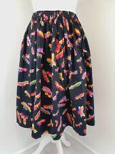Womens Dragonfly Hill Berg Print Flared Skirt Professional Handmade M/L 14/16/18
