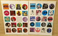 Vintage 1996 Star Wars New Hope Trilogy Sticker Sheet Darth Vader Han Leia R2D2