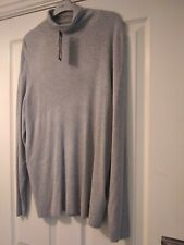 BNWT M & S Collection Grey Marl Ribbed Roll Neck Jumper Size 24