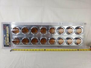 Peterbilt 379/377 Air Cleaner RoadPro RPSL28LED 8 LED's Stainless Steel Chrome