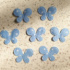 300 Small Blue Polka Dots Butterfly Trim Sew Hair Bow Card Embelishments Craft