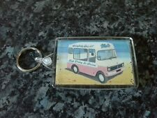 Classic British Ice Cream Van Jumbo Keyring. NEW. Soft Dairy, Vintage Style Sign