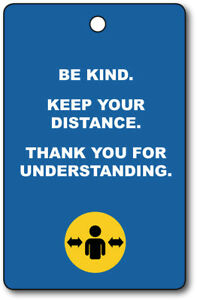 Exemption Cards and Lanyards - Be Kind Keep Your Distance