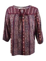 Style & Co. Women's Plus Size Embroidered Printed Peasant Top
