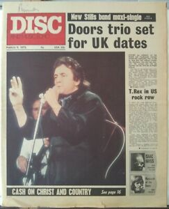 Disc Mar 11th '72 - Johnny Cash Isaac Hayes T.Rex Doors Jethro Tull Yes