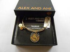 Alex and Ani TAURUS II Zodiac Expandable Wire Bracelet Rafaelian GOLD NWTB&C