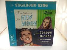 New Moon Vagabond King Gordon MacRae  LP Music Record Album Vinyl 33 1/3 RPM