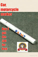 White Permanent Car Tyre Marker Pen Paint Motorcycle Bike Universal Metal Wheel