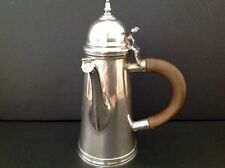 Britannia Standard Crichton Chocolat Café Pot Antique English sterling silver