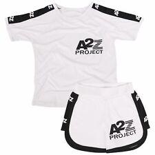 Kids Shorts Set Boys Girls T-shirt Sports White Summer Outfits Shorts 2 Piece