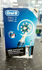 Oral-B Pro 2000 Power Brush Blue with Charcoal Toothpaste
