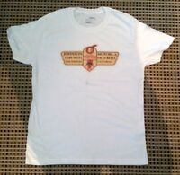 "T SHIRT ""JOHNSON MOTORS INDIAN TRIUMPH ARIEL"" HANES BEEFY T Motorcycle SIZE M"