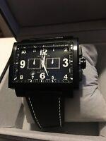 Montres De Luxe Milano Men's 16:9 Estremo tachymeter Black Chronograph watch NEW