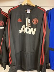 Authentic Manchester United Long Sleeve Track Top Medium