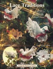 Wimpole Street Creations LACE TRADITIONS with Doves Poinsettias Roses & Doilies