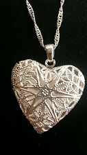 *UK* 925 Silver  opening  heart  locket  and 18 inch chain
