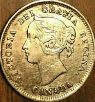 1899 CANADA SILVER 5 CENTS COIN - Excellent example!
