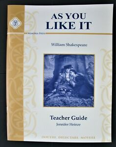 As You Like It William Shakespeare Teacher Guide Homeschool