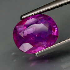 2.25 CT CERTIFIED SAPPHIRE, OVAL, PURPLE-PINK, EARTH MINED, HEATED,  BEAUTIFUL!