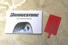Bridgestone Tyre Safety Guide and Tread Depth Gauge