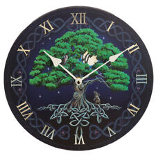 Tree of Life Celtic Knot Decorated Picture Wall Clock Lisa Parker Art