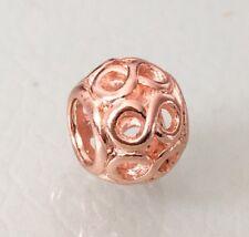 Chapado en Oro Rosa Infinito Infinity calado encanto para Pulseras & Collares
