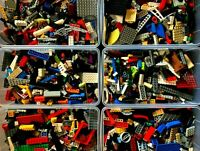 BULK LEGO LOT -2 POUNDS & 2 MINIFIGURES - Bricks Building Toy Lbs Star Wars City