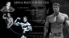 Arnold Schwarzenegger Olympia Bodybuilding Motivational poster 24 inch x 13 inch