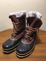 Rod and Gun Snow Pac Boot Felt Steel Shank Mens Size 7 Brown Leather Rubber