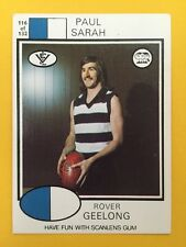 Scanlens 1975 VFL Trading Card 116 Paul Sarah Geelong Cats