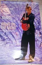 STING The Police Bring On The Night HUGE Original Oversized Mural Movie Poster