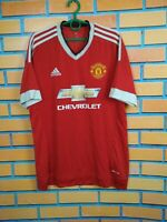 Manchester United Jersey 2015 2016 Home LARGE Shirt Football Adidas AC1414