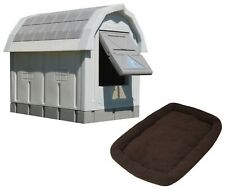 Outdoor Insulated Plastic Dog House Dog Palace Doghouse and Bed Combo