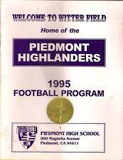 Piedmont High School 1995 Football Program Piedmont, Cal.- Bishop O'Dowd Game
