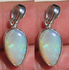 Opal Pendant Sterling Silver 100% Natural Solid Australia Jewelry Valentine Gift