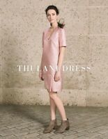 GORGEOUS LK BENNETT PINK THULANI LUREX SHIFT DRESS SIZE 12 RRP £295