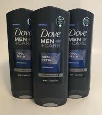 3 Dove Men + Care Cool Fresh Invigorating Body Wash Face Wash 400 ml each