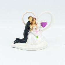 Brautpaar Herzbogen Hochzeitspaar Hochzeit Geschenk Hochzeitsfigur Tortenfigur