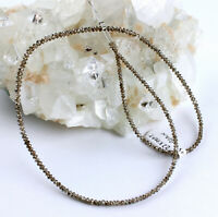 Diamant Kette Edelsteinkette Braun Facettiert Top Qualität Collier Edel Neu 22kt