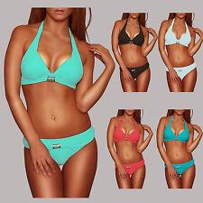 Push up Bikini mit Glitzter Brosche Gr. 36/S - 38/M - 40/L - 42/XL