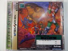 !!! Sega Saturn japón juego Shining Force III Scenario 1, usado pero top!!!
