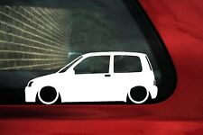 2x Lowered stickers auto aufkleber - for Fiat Cinquecento Sporting oldtimer
