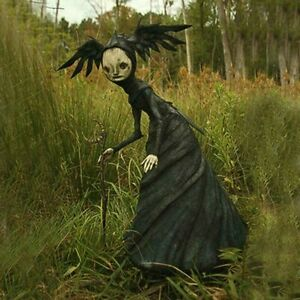 16 cm Forest Creepy Witches Halloween Horror Props Home Garden Ornament Decor