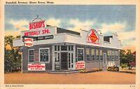 Linen Postcard Standish Avenue in Shore Acres, Massachusetts~121986