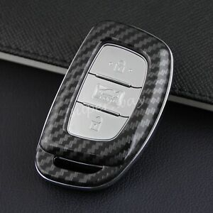 FOR Hyundai 2015-2019 Carbon Fiber Hard Key Fob Case Shell Cover Accessories